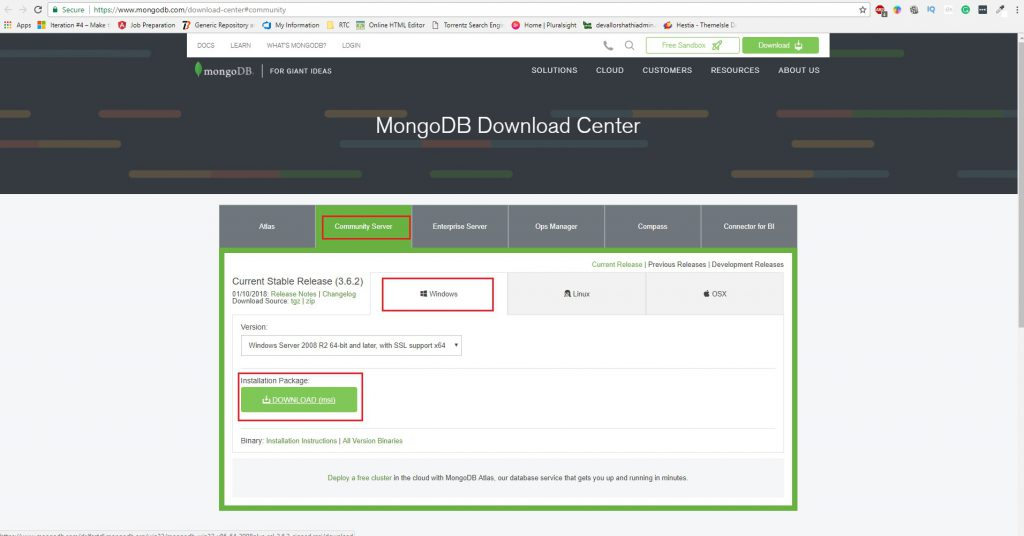 download mongodb